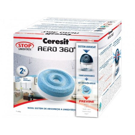 Rezerva dezumidificator camera Ceresit AERO 360 - neutral, 2 tablete x 450 g, 1901876